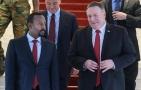 """""""بومبيو"""" يبحث مع """"آبي أحمد"""" الاستعداد للانتخابات الإثيوبية ويؤكد التزام أمريكا بمحاربة التنظيمات الإرهابية في القرن الأفريقي"""