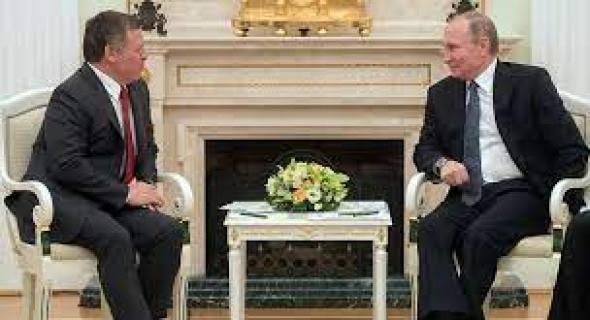 بوتين يلتقي ملك الأردن الذي يزور روسيا زيارة عمل