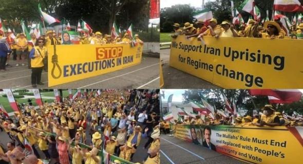 """تظاهرة إيرانية أمام وزارة الخارجية الأمريكية والبيت الأبيض دعما لـ""""مجاهدي خلق"""""""