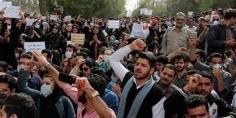 الأحوازيون يتظاهرون أمام مبنى الحاكم العسكري احتجاجا على قطع المياه عنهم