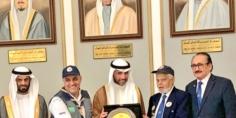 الاتحاد العربي لرواد الكشافة والمرشدات يكرم رئيس مجلس الأمة الكويتي