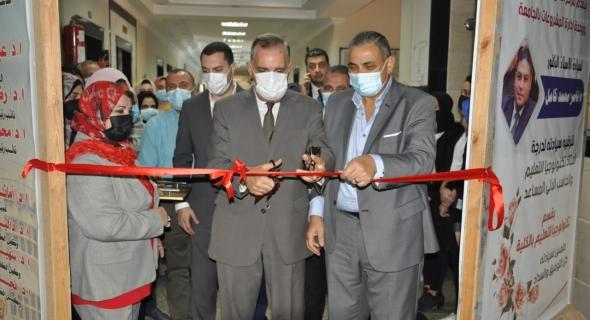 محافظ كفر الشيخ ورئيس الجامعة يفتتحان ثلاثة معارض فنية بكلية التربية النوعية