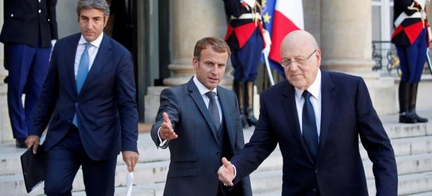 """""""ماكرون"""" يتعهد بدعم لبنان و""""ميقاتي"""" يعد بإصلاحات عاجلة"""